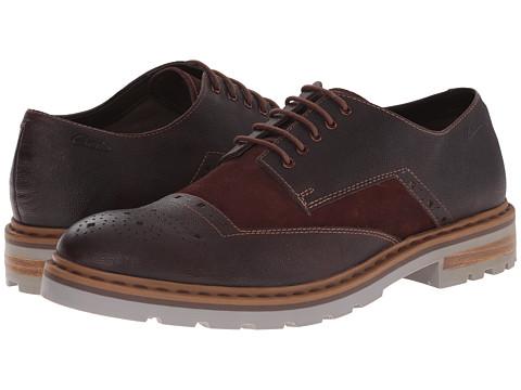Clarks - Dargo Limit (Chestnut Combi Leather) Men's Lace up casual Shoes