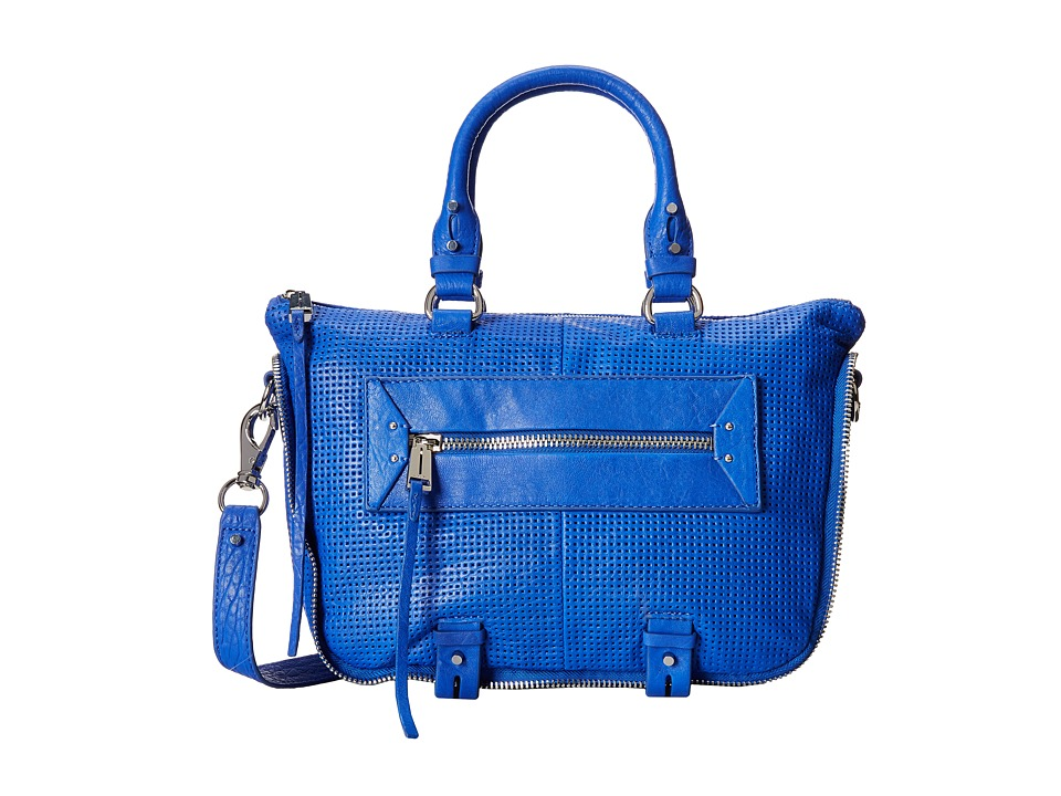 She + Lo - Rise Above Mini Satchel (Cobalt Perf) Satchel Handbags