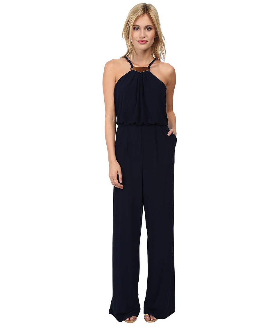 Vince Camuto - Ity Jumpsuit with Neck Hardware (Navy) Women's Jumpsuit & Rompers One Piece