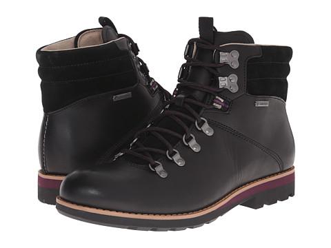Clarks - Padley Alp GTX (Black Leather) Men