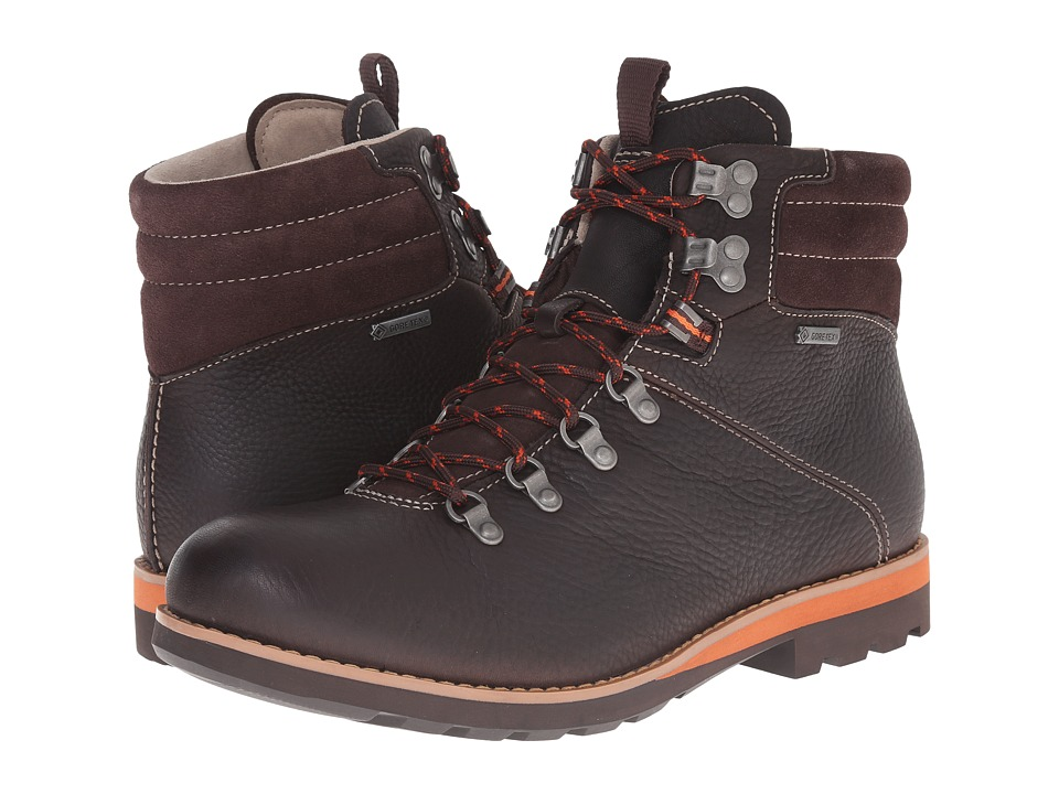Clarks - Padley Alp GTX (Dark Brown Leather) Men