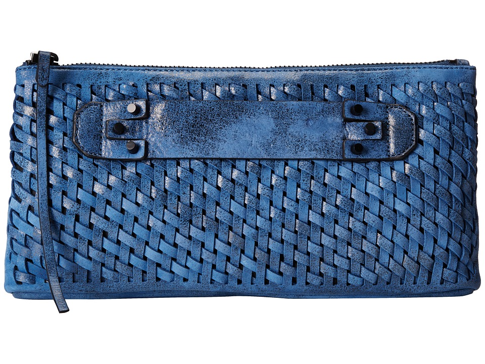 She + Lo - Take A Chance Clutch (Cobalt/Black) Clutch Handbags