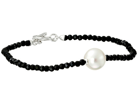 Majorica - Single Pearl and Crystal Bracelet (Black/White) Bracelet