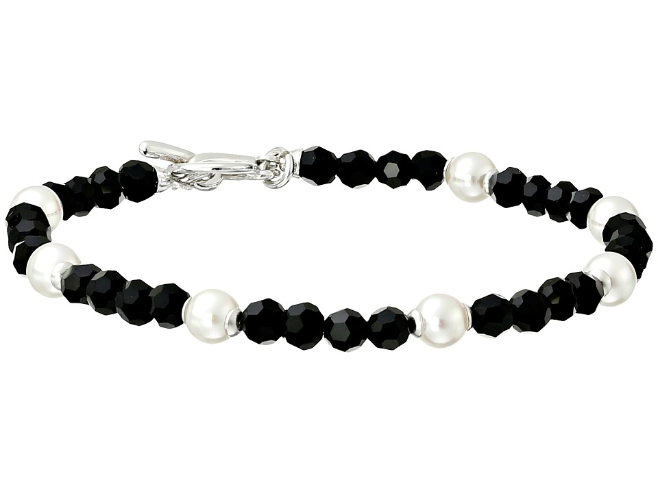 Majorica - Pearl and Crystal Bracelet (Black/White) Bracelet