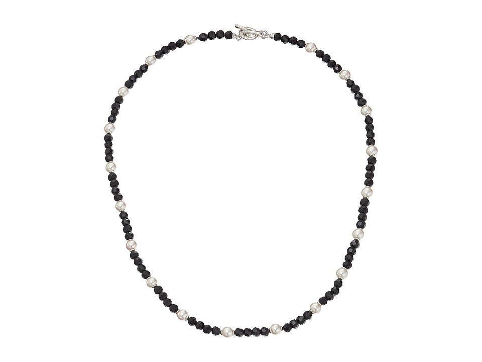 Majorica - Pearl and Crystal Necklace (Black/White) Necklace