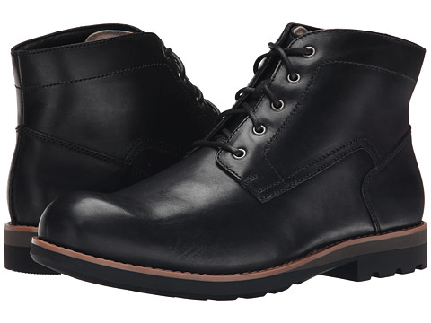 Clarks - Padley Mid (Black Warm Lined Leather) Men's Lace-up Boots
