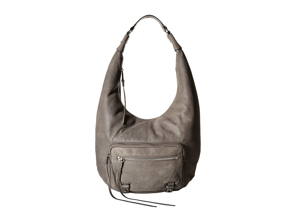 She + Lo - No Regrets Zip Hobo (Charcoal) Hobo Handbags