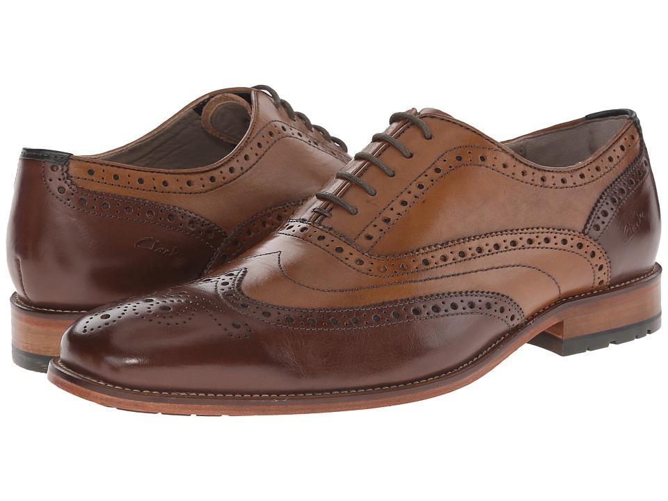 Clarks - Penton Limit (Tan Combi Leather) Men