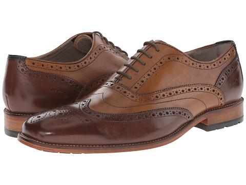 Clarks - Penton Limit (Tan Combi Leather) Men's Lace Up Wing Tip Shoes