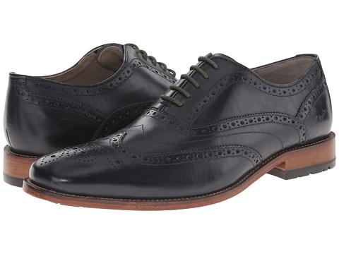 Clarks - Penton Limit (Dark Blue Leather) Men's Lace Up Wing Tip Shoes