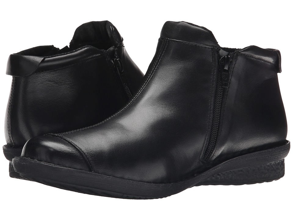 David Tate - Euro (Black Calf) Women's Zip Boots