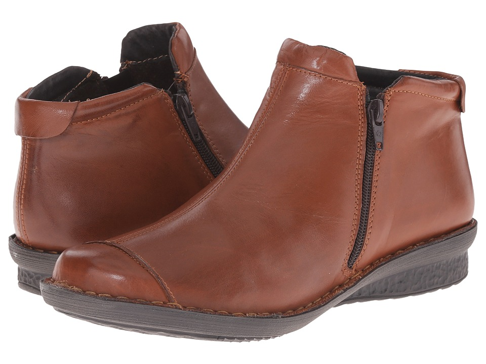 David Tate - Euro (Luggage Calf) Women's Zip Boots