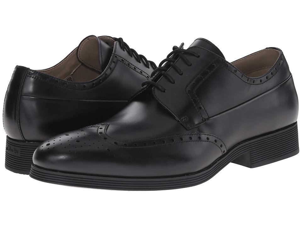 Clarks - Gabwell Limit (Black Leather) Men