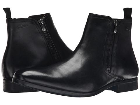 Clarks - Banfield Zip (Black Leather) Men