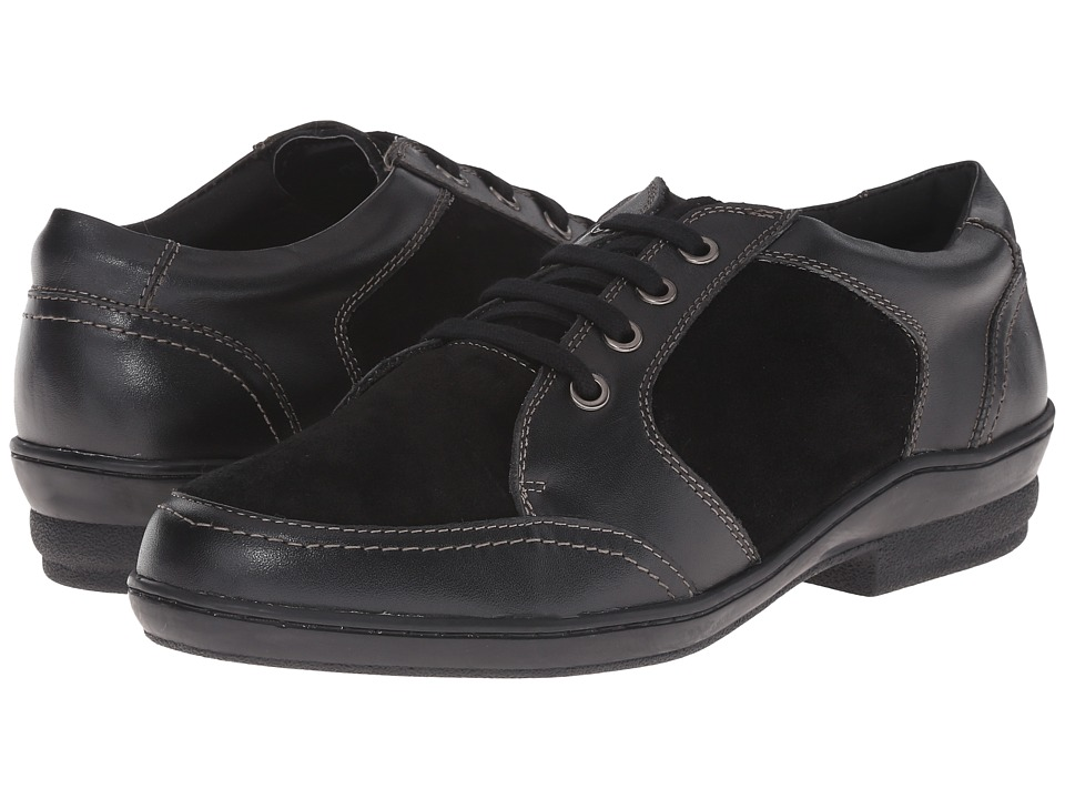 David Tate - Helen (Black Soft Calf/Suede) Women's Lace up casual Shoes