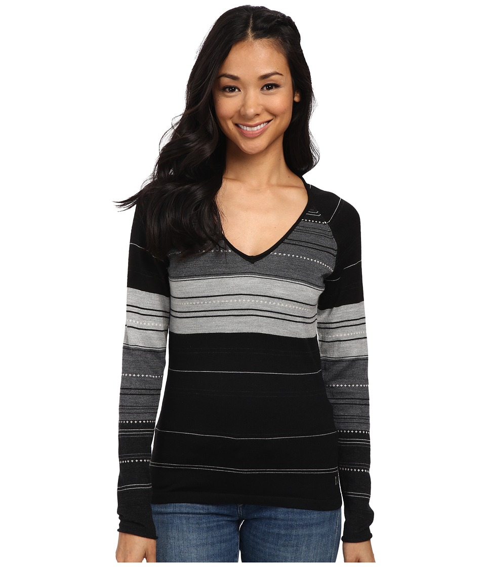 Smartwool - Sulawesi Stripe Pullover (Black) Women's Sweater