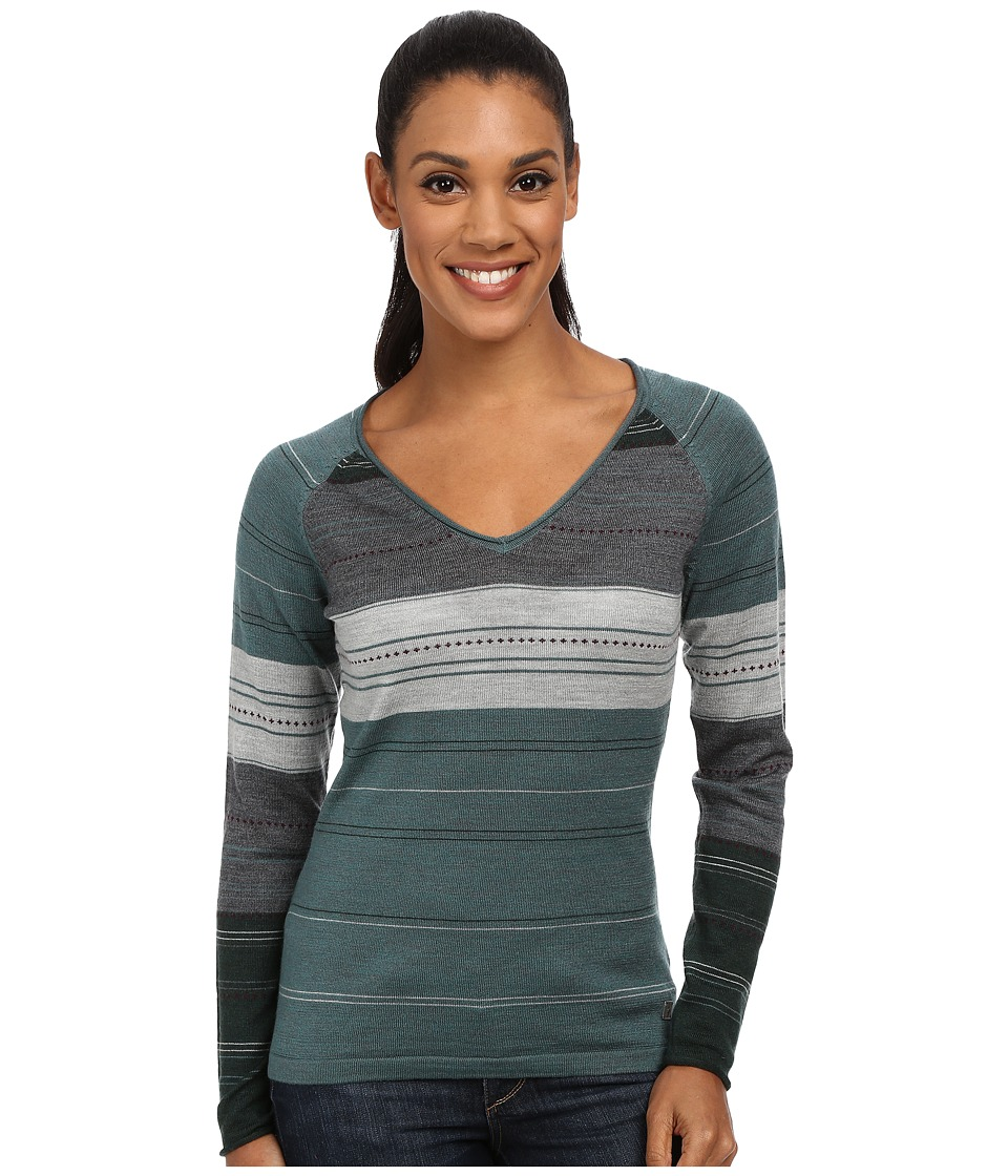 Smartwool Sulawesi Stripe Pullover (Sea Pine Heather) Women