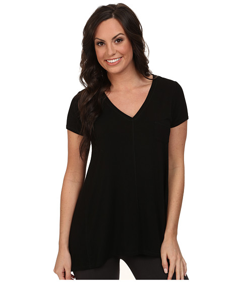 DKNY - Urban Essentials Short Sleeve Top (Black) Women's Pajama