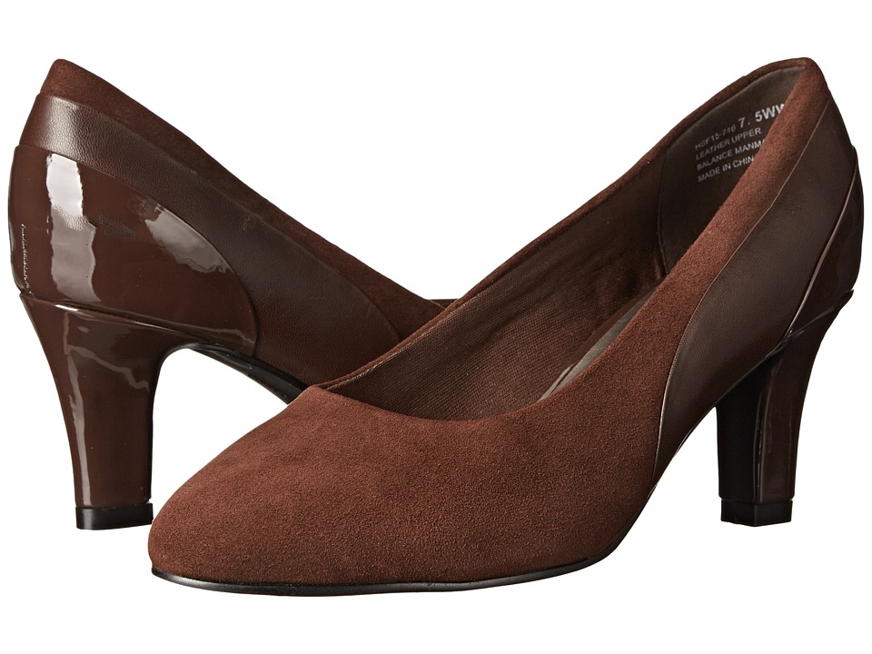 David Tate Sexy (Brown/Suede/Patent) High Heels