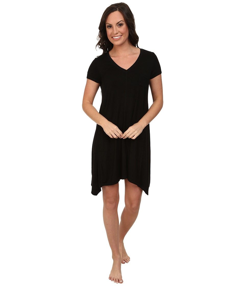 DKNY - Urban Essentials Short Sleeve Sleepshirt (Black) Women's Pajama