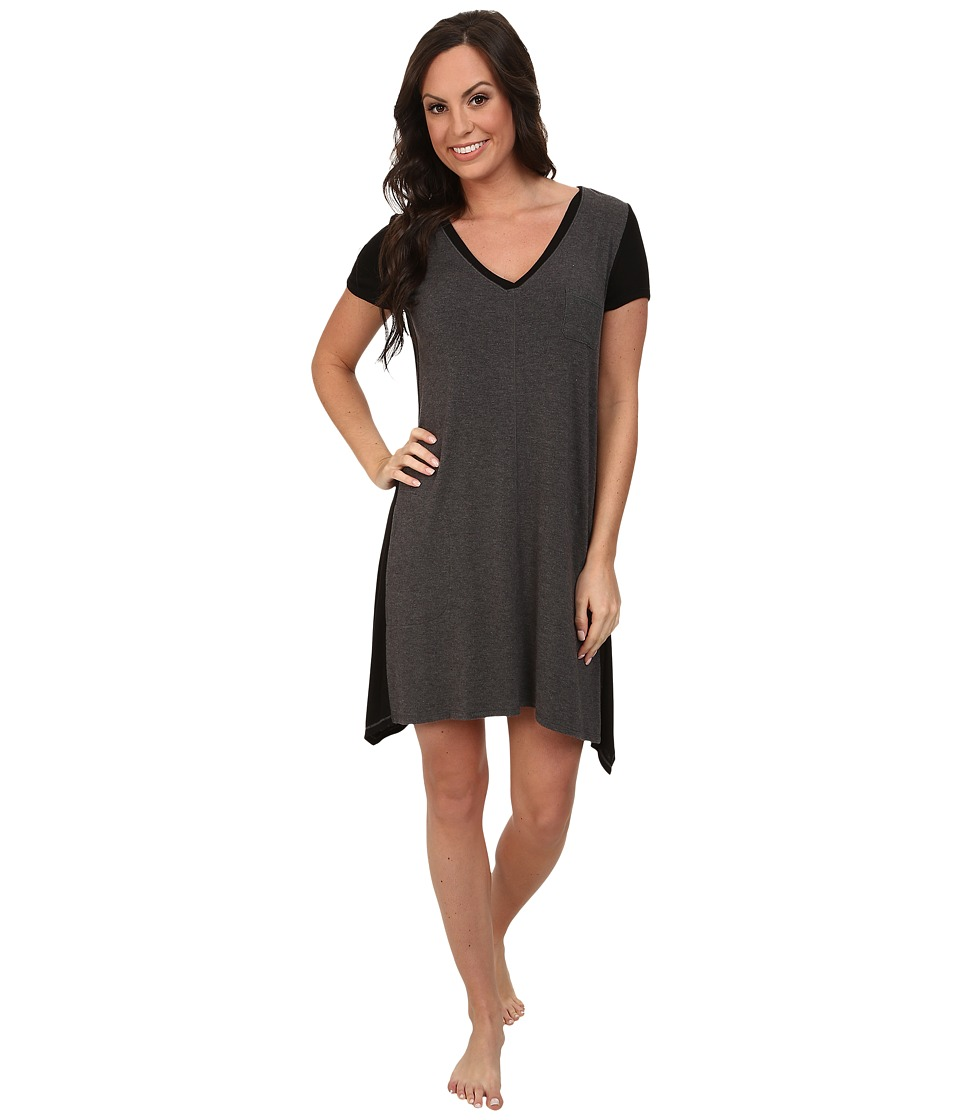 DKNY - Urban Essentials Short Sleeve Sleepshirt (Heather Charcoal) Women's Pajama