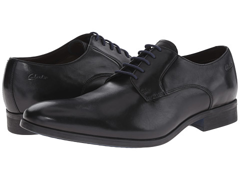 Clarks - Banfield Walk (Black Leather) Men's Plain Toe Shoes
