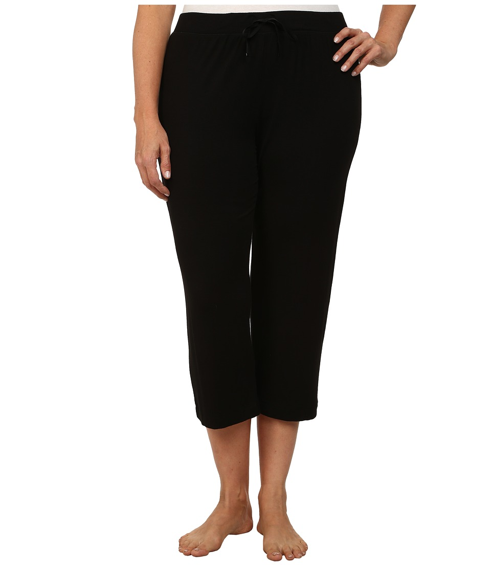 DKNY - Plus Size Urban Essentials Capris (Black) Women's Pajama