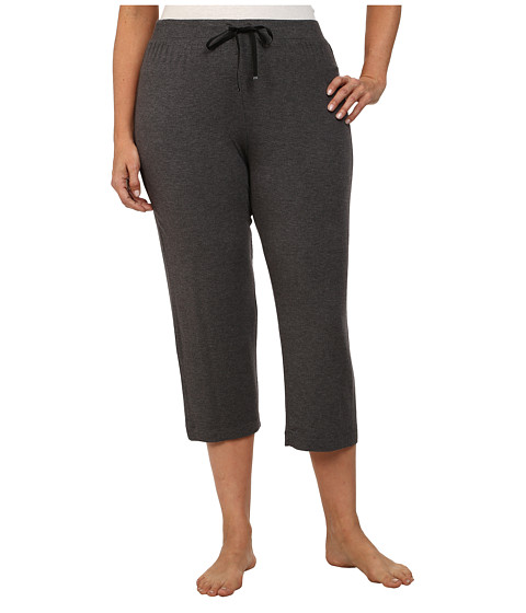 DKNY - Plus Size Urban Essentials Capris (Heather Charcoal) Women