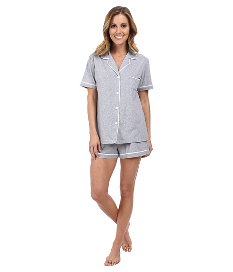 DKNY - The Novelist Boxer Set (Grey Heather) Women's Pajama Sets