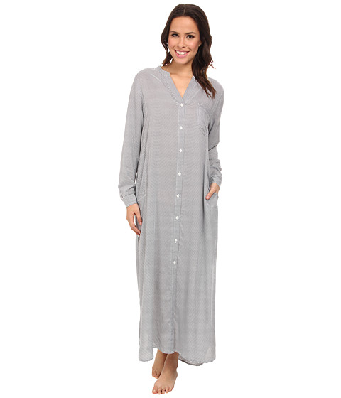 DKNY - Rooftop Gardner Shirt Dress (Grey/Ivory Stripe) Women