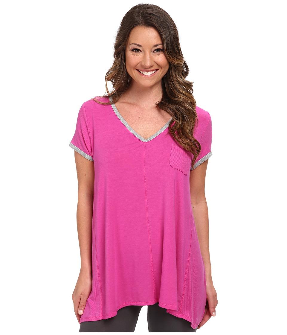 DKNY - Urban Essentials Glamour Short Sleeve Top (Fuchsia) Women's Pajama