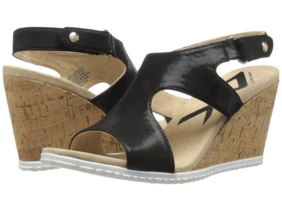 Anne Klein - Minerva (Black Reptils) Women's Wedge Shoes
