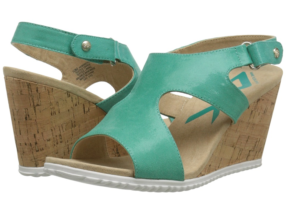 Anne Klein - Minerva (Teal Lagoon Reptile) Women's Wedge Shoes