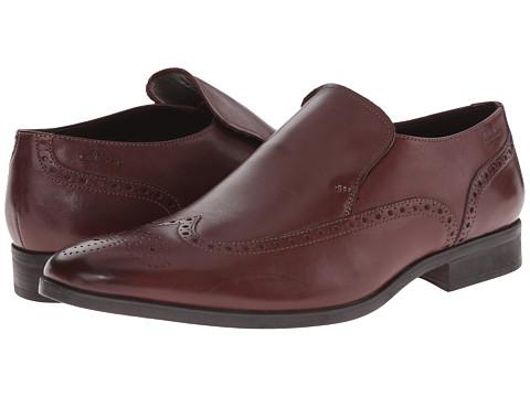 Clarks - Banfield Slip (Chestnut Leather) Men's Slip-on Dress Shoes
