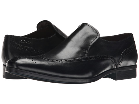 Clarks - Banfield Slip (Black Leather) Men