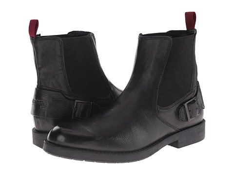 Clarks - Norton Spin (Black Leather) Men's Pull-on Boots