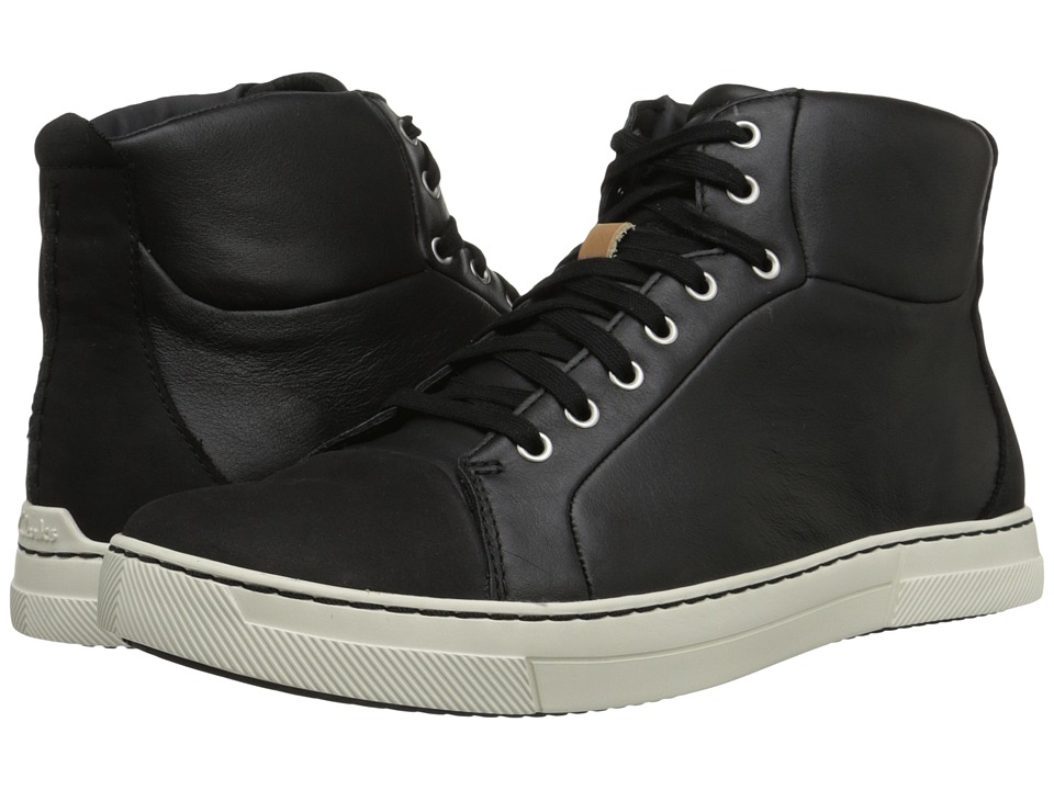Clarks - Ballof Hi (Black Leather) Men