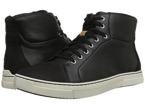 Clarks - Ballof Hi (Black Leather) Men's Lace-up Boots