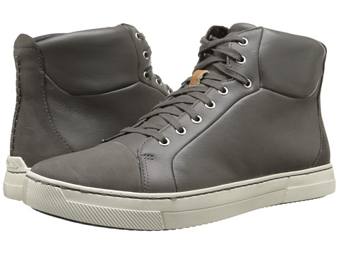Clarks - Ballof Hi (Grey Leather) Men's Lace-up Boots