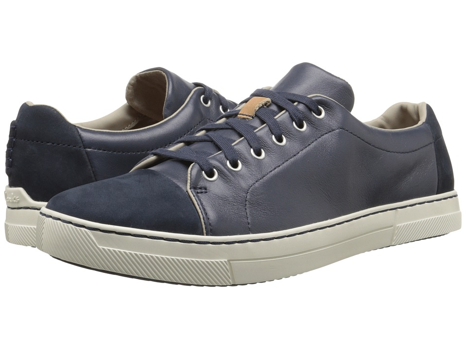 Clarks - Ballof Walk (Dark Blue Leather) Men's Shoes