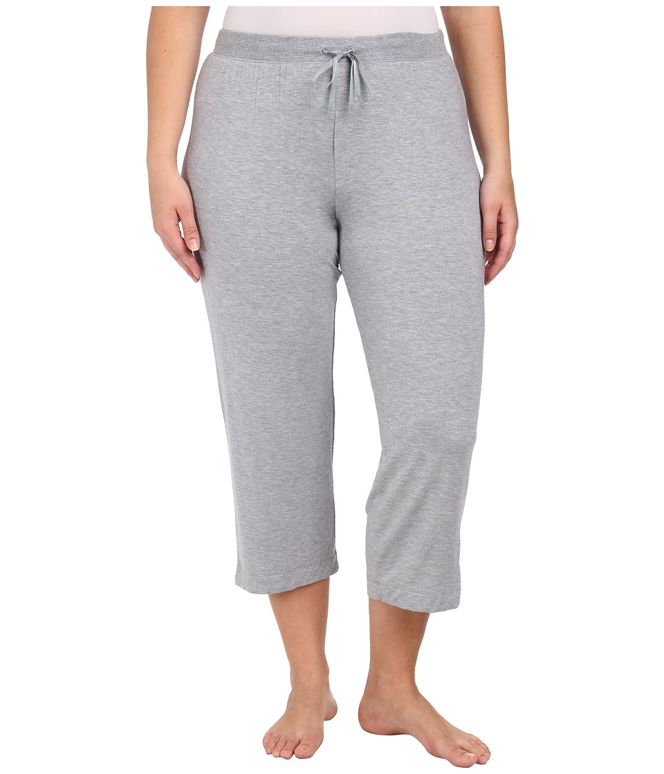DKNY - Plus Size Urban Essentials Glamour Capris (Heather Grey) Women's Pajama