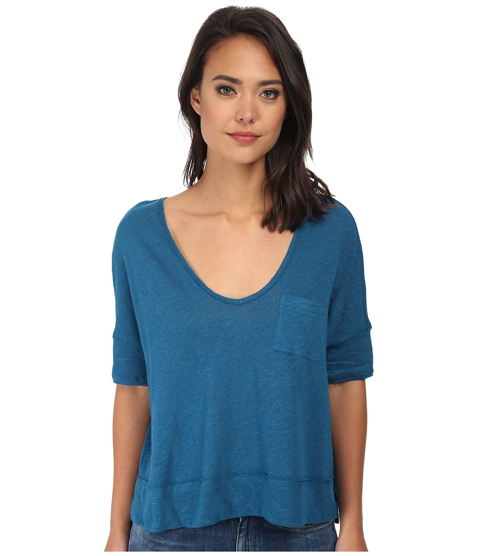 Free People - Triblend Jersey Crescent Moon Tee (Peacock) Women