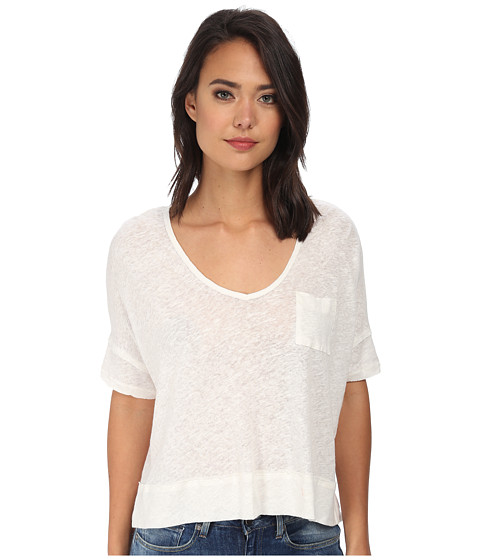 Free People - Triblend Jersey Crescent Moon Tee (Ivory) Women's Short Sleeve Pullover