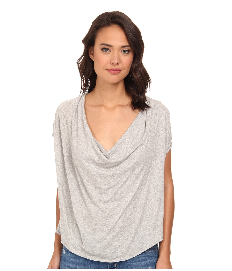Free People - Fantasy Jersey Cowl Tee (Heather Grey) Women
