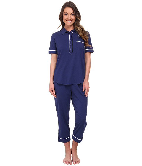 DKNY - Perfect PJ Summer PJ Set (Navy) Women