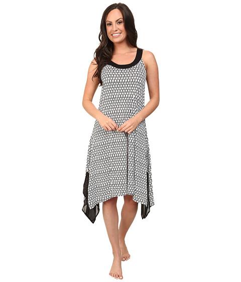 DKNY - Soho Blogger Chemise (White Ikat) Women's Pajama