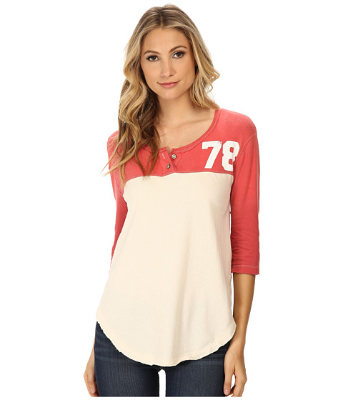 Free People - Super Cycle Jersey Number Graphic (Mineral Red Combo) Women's Short Sleeve Pullover