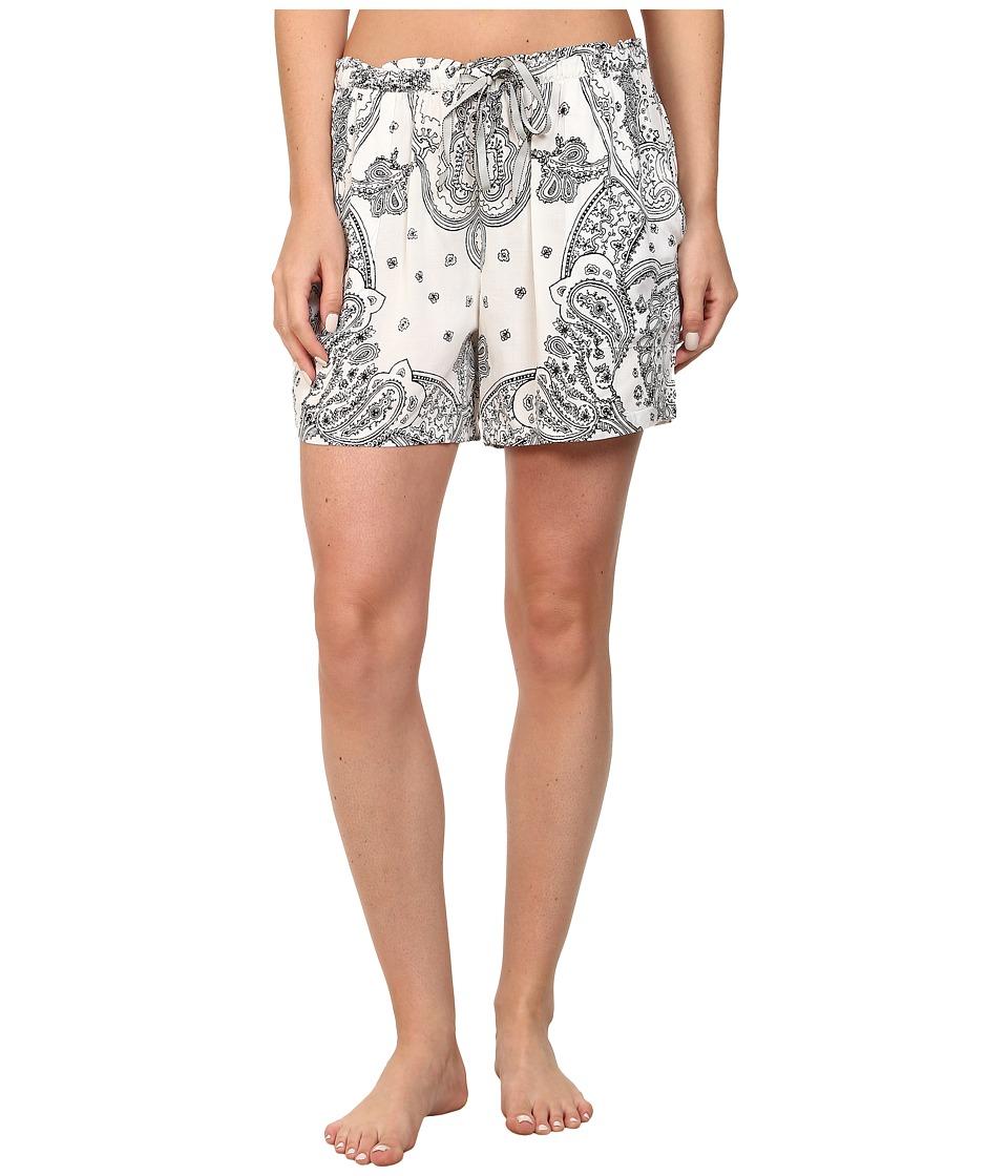 DKNY - Uptown Doll Boxer (White Bandana Print) Women's Pajama