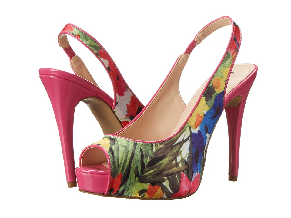GUESS - Aerra (Fuchsia Multi Floral) High Heels