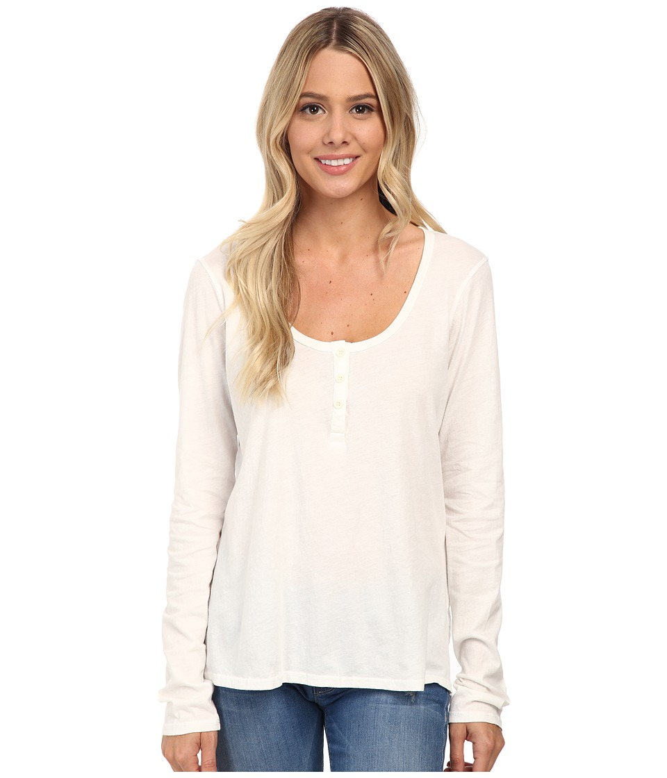 Volcom - Lived in Overdyed Henley (Bone) Women's Long Sleeve Pullover